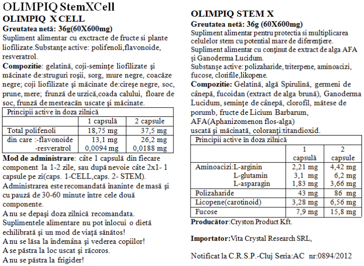 Olimpiq StemXCell 50% 60+60 prospect