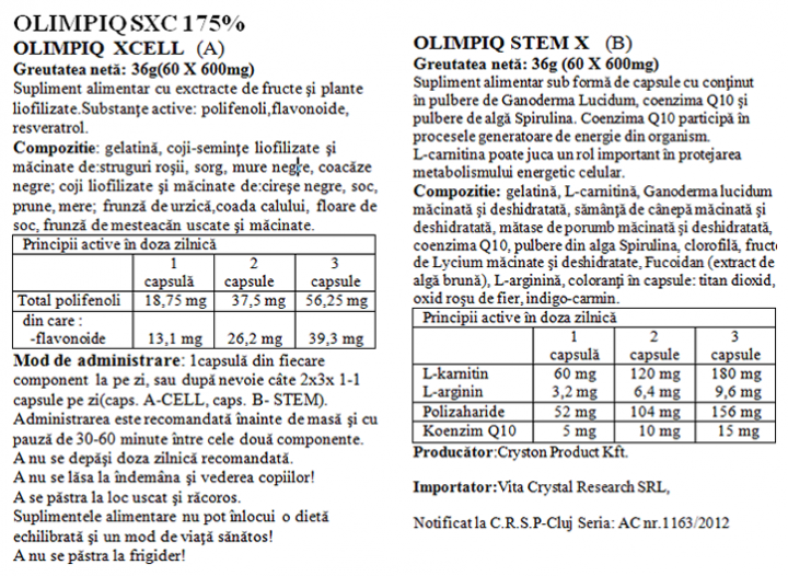 Olimpiq StemXCell 175% 60+60 prospect