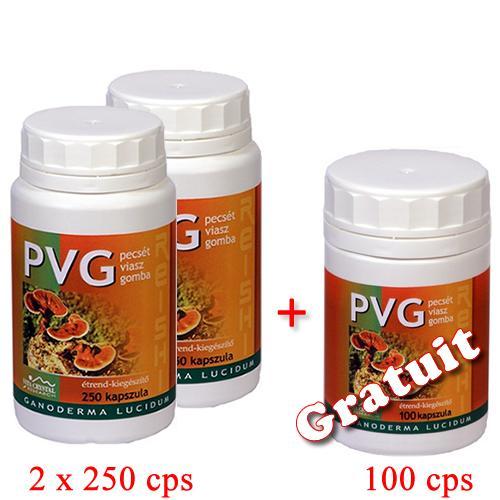 PVG Ganoderma 250 cps 2 +1 100 capsule GRATUIT