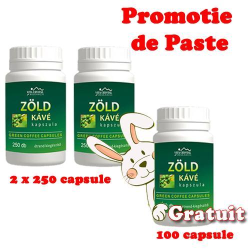 Cafea Verde cu 250 cps 2 + 100 capsule GRATUIT