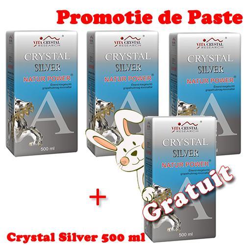 Crystal Silver Natur Power 500 ml 3+1 Gratuit