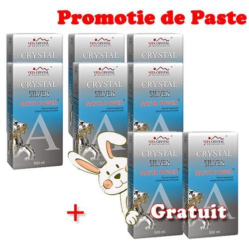 Crystal Silver Natur Power 500 ml 6+2 Gratuit