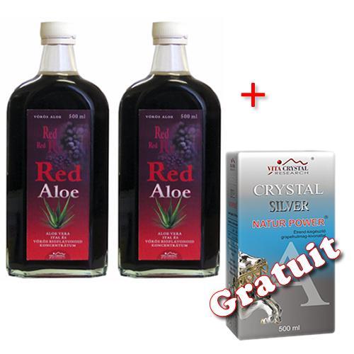 Red Aloe 2  buc  + Crystal Silver 500