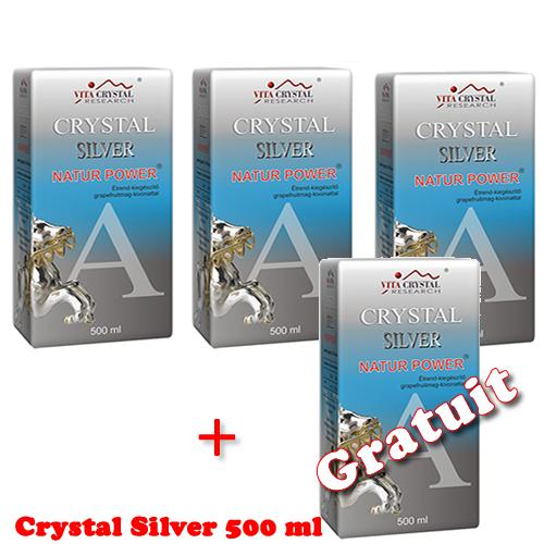 Crystal Silver Natur Power 500 ml 3+1 Gratuit