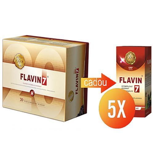 Flavin7 cu Stevie 30x50 ml + 5xFlavin7 100ml Gratuit